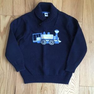 Janie & Jack Boys train knitted sweater age 5
